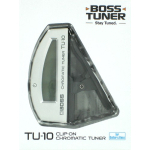 Boss TU-10 Clip On Chromatic Guitar Tuner Silver TU10