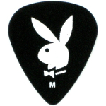 Clayton Playboy Bunny Black Medium Guitar Picks 12 Pack