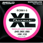 D'Addario ECB81-5 Chromes Regular Light Bass 5 Strings