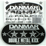 Danmar DP210MKD Double METAL Bass Drum Impact Pad