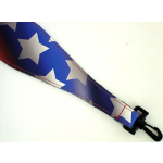 Airbrushed Leather Banjo Strap Patriot USA Flag America