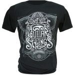 Ernie Ball King of Strings Silver Logo T Shirt Black XXL 4704