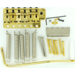 Genuine Fender Vintage Tremolo Bridge Kit Gold Strat SRV Left Hand 0992049202