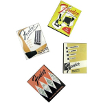 Fender Guitar Catalog Cover Magnets Set of 4
