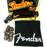 Fender 50th Anniversary Truck Model w/ 351 Picks and Black Logo T Shirt Large