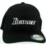 Ibanez Flexfit L/XL White Logo Baseball Hat Black
