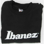 Ibanez Guitar Long Sleeve Logo T Shirt Black Large