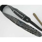 Airbrushed Leather Guitar Strap Spider & Web