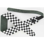 Leather Guitar Strap Large Checker Black White
