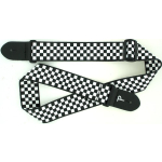 "Perri's 2"" Poly Guitar Strap Black and White Checkered LPCP-591"