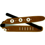 Leather Suede Guitar Strap Conchos Brown Country
