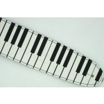 Leather Guitar Strap Piano Keyboard Keys Design