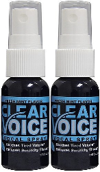 Clear Voice Vocal Spray Fresh Mint 1 fl. oz. Bottles 2 Pack