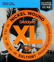D'Addario EXL110BT Electric Guitar Strings 10-46 Regular Light 1 Set