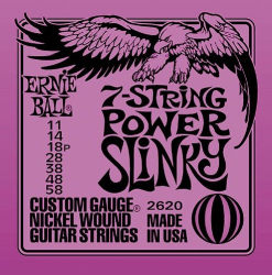 Ernie Ball 7-String Power Slinky Guitar Strings 12 Sets