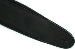 "Deluxe Black Padded Soft Leather Guitar Strap 3.5"" Wide"