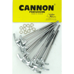 Cannon Chrome Bass Drum Tension T-Rods Bag of 10 NEW