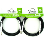 Fender Performance Guitar Cable 10' Black 2 Pack 0990820005
