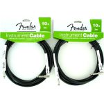 Fender Performance Guitar Cable 10' Black Right Angle 2 Pack 0990820006
