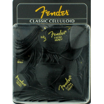 Fender 351 Classic Celluloid Guitar Pick Black Extra Heavy 1 Gross 144