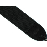"Fender 2"" Guitar Strap Black Metal Logo Cotton & Suede 0990667006"