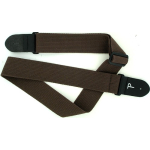 "Perri's 2"" Cotton Guitar Strap with Leather Ends Brown CWS20-1684"