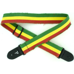 "Perri's 2"" Distressed Cotton Guitar Strap with Leather Ends Jamaican CWS20-6531"