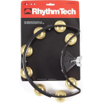 Rhythm Tech Drum Set Tambourine Black with Brass Jingles DST11