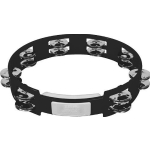 "Rhythm Tech True Colors 10"" Tambourine Black with Nickel Jingles TC4010"