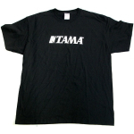 Tama Drums Classic White Logo T Shirt Black Extra Large