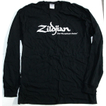 Zildjian Logo Long Sleeve Black T Shirt LARGE  T4123