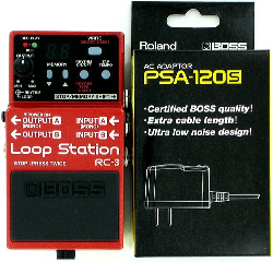 Boss RC-3 Loop Station Guitar Effect Pedal w/ PSA-120S Power Supply