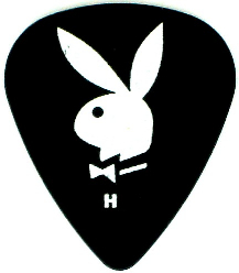 Clayton Playboy Bunny Black Heavy Guitar Picks 12 Pack