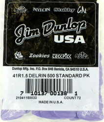 Dunlop Delrin Picks 1.5mm Extra Heavy 72 Pack 41R15
