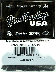 Dunlop Jazz III Nylon Guitar Picks Black Bag of 24