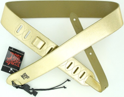 Ernie Ball Leather Guitar Strap Gold Foil 4066