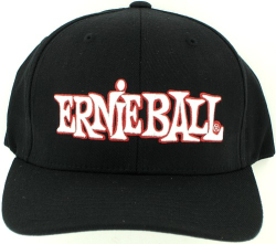 Ernie Ball Logo Flexfit S/M Baseball Cap Hat Black NEW