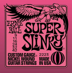 Ernie Ball Super Slinky 2223 9-42 Guitar Strings 1 Set