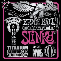 Ernie Ball Super Coated Slinky Guitar Strings 3 Sets