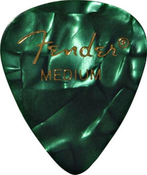 Fender 351 Guitar Pick Premium Medium Green Moto 144 Pack