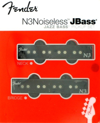 Fender Jazz Bass N3 Noiseless Pickups Neck and Bridge Set 0993117000