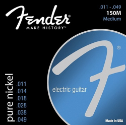 Fender 150M Nickel Electric Guitar Strings 11-49 12 Sets