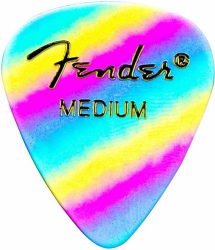 Fender 351 Classic Celluloid Guitar Picks Rainbow Medium Pack of 12