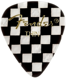 Fender 351 Classic Celluloid Guitar Picks Checker Thin Pack of 12