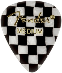 Fender 351 Classic Celluloid Guitar Picks Checker Medium Pack of 12
