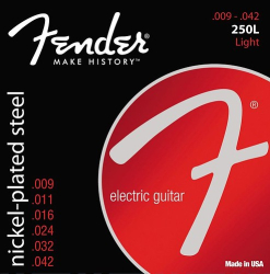 Fender 250L 9-42 Light Electric Guitar Strings 1 Set