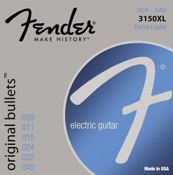 Fender 3150XL Electric Guitar Strings 9-40 Bullet 1 Set