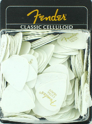 Fender 351 Classic Celluloid Guitar Pick White Extra Heavy 144 1 Gross