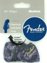 Fender 351 Guitar Picks Premium Medium Purple Moto 12