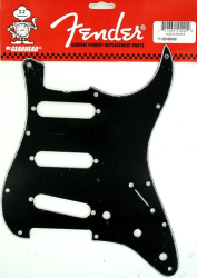 Fender '62 Strat Pickguard Strat 3 Ply Black 0991345000